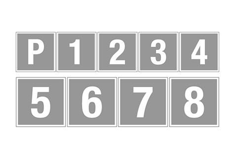Jälkivalaisevat kerrosnumerot