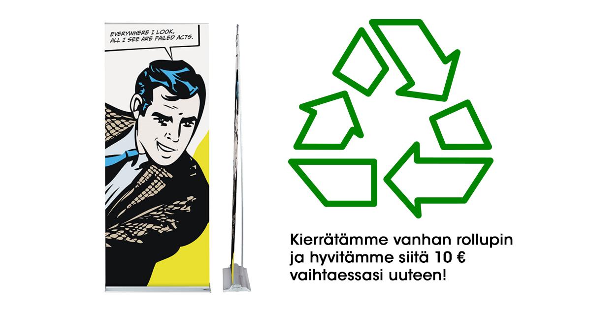 Rollup kierrätys