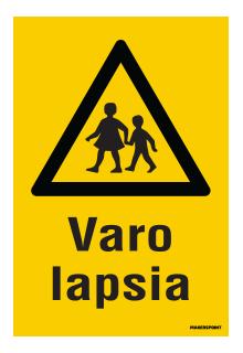 Varo lapsia kilpi
